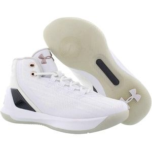 UNDER ARMOUR CURRY 3 Boys Girls Shoes White/Gold